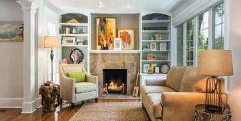 Artfully staged living rooms