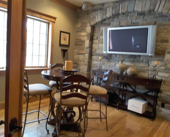 Wine Room with stone walls
