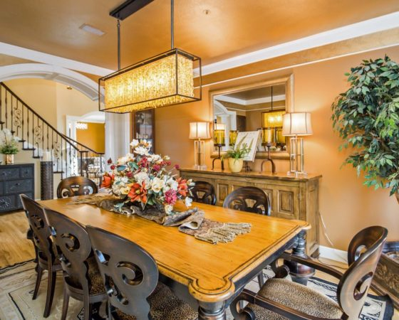 Elegant Dining Room in Castle Pines CO Home by My Inside Designer